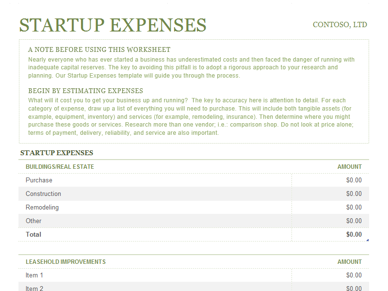 Use This Templates To Calculate The Expenses Needed To Start Your Own Business It Has Notes And Budget Planner Template Family Budget Planner Budget Planner