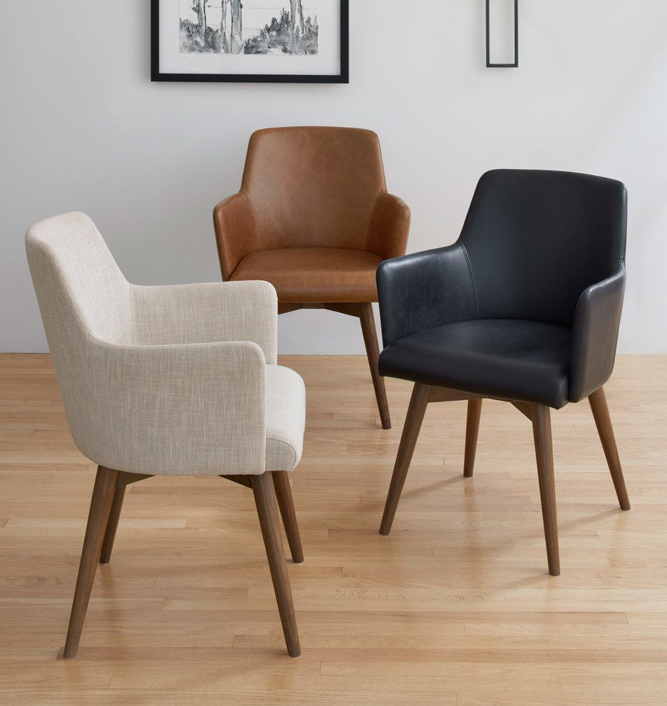 Dexter Arm Chair With Walnut Legs Rejuvenation Dining Chairs Comfy Chairs Living Room Chairs Comfortable dining chairs with arms