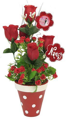 Arreglo de flores para Despedida de Soltera Centro de mesa con flores rojas