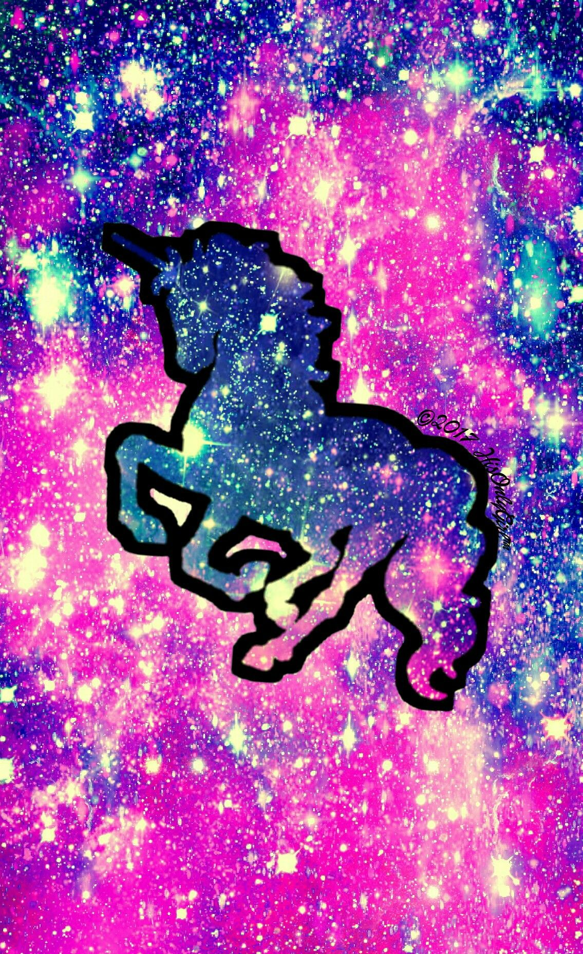 sweet unicorn galaxy wallpaper i created for the app cocoppa