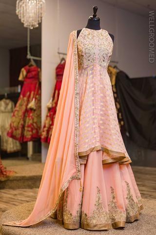 2f6cf9f5f1 Blush Pink Goergette Lacha Mode 2018, Robe Indou, Tenue Indienne, Garde-robe