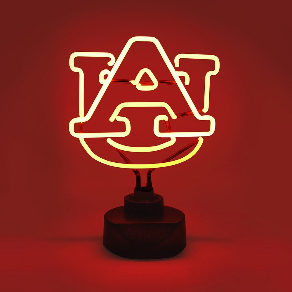 NCAA Auburn Tigers Table Top Neon Logo Light