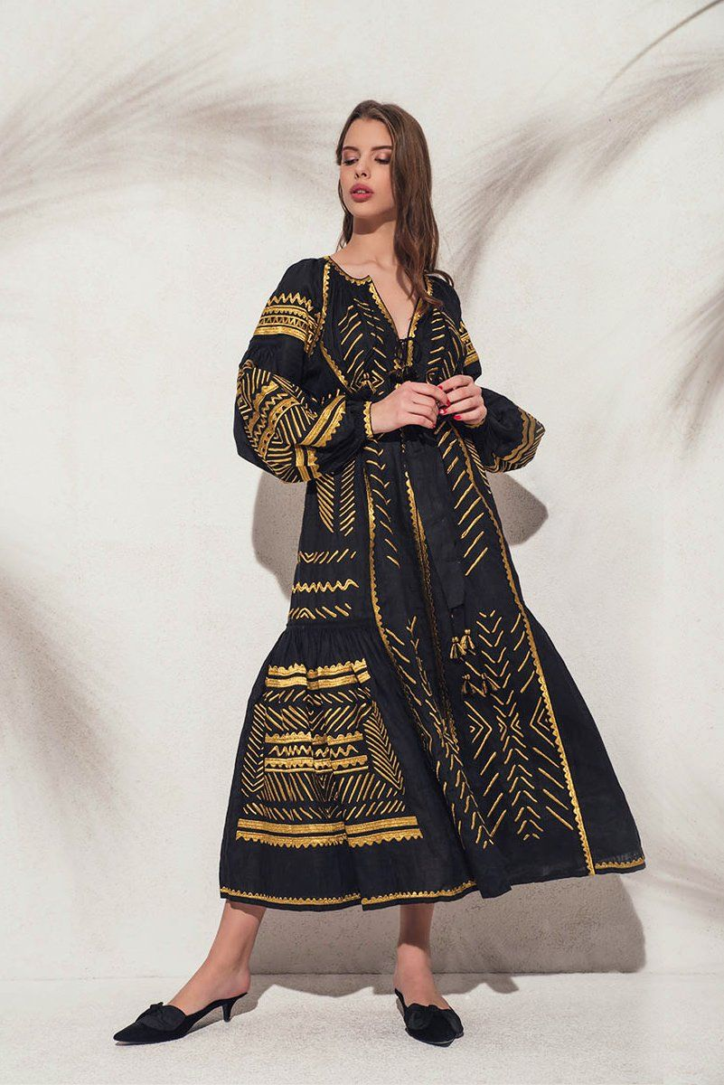 Namibia maxi dress in black and gold products pinterest maxi