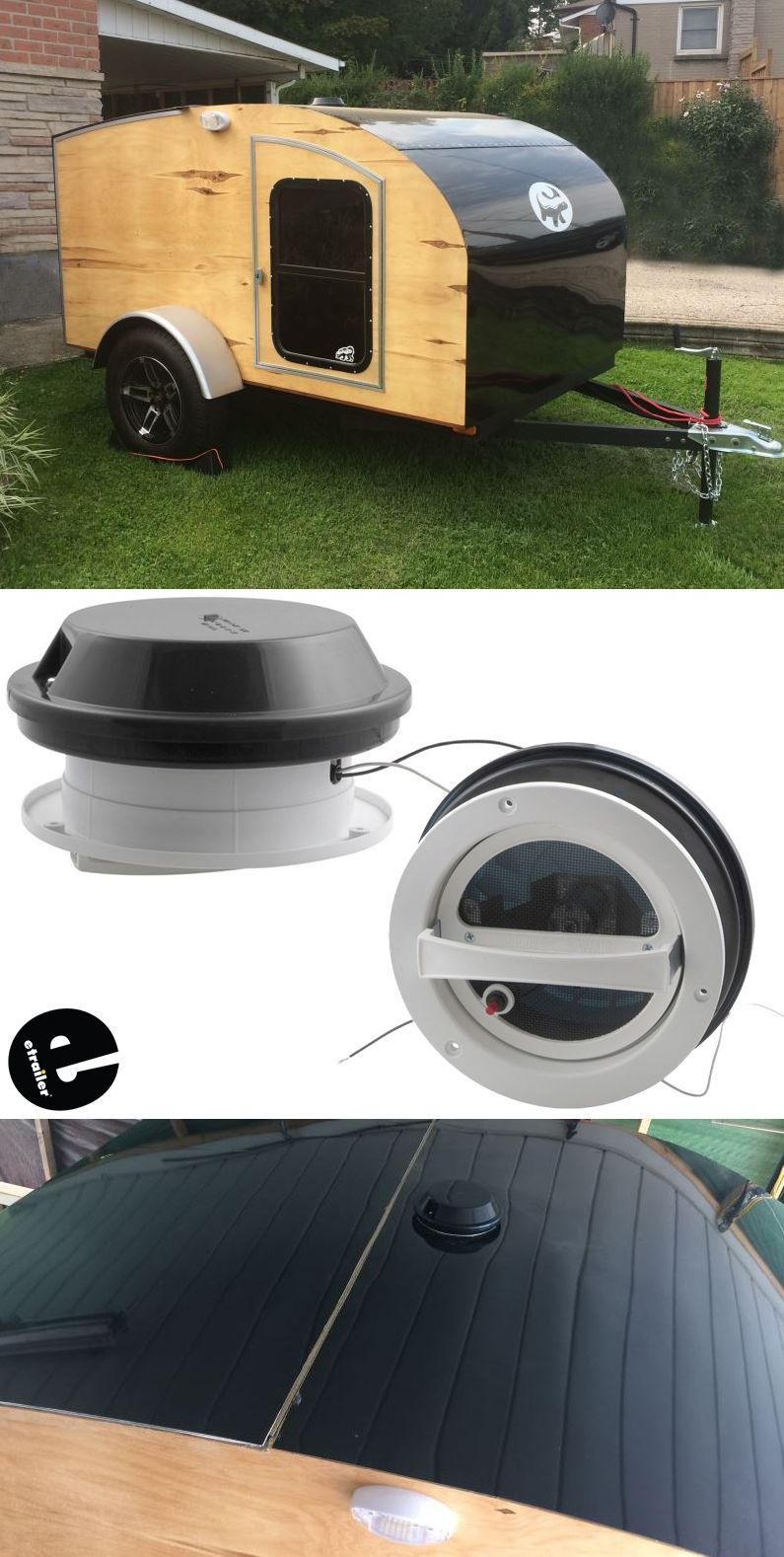 Ventline Vanair Trailer Roof Vent W 12v Fan 6 1 4 Diameter Smoke Ventline Rv Vents And Fans Vp Teardrop Camper Teardrop Trailer Plans Teardrop Trailer