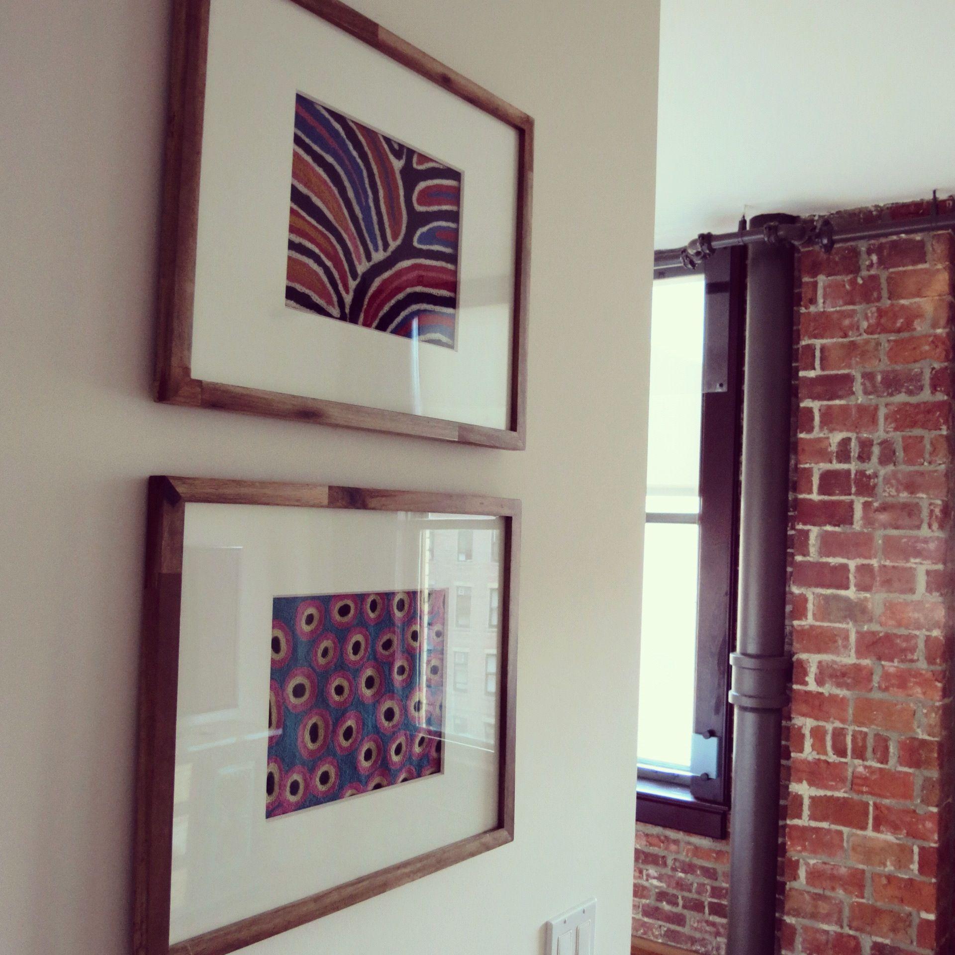 DIY: Handmade Aboriginal pillowcases from Sydney turned into framed ...