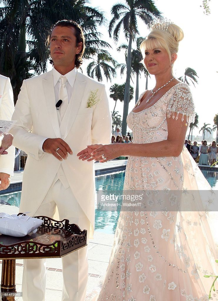 Ivana Trump And Rossano Rubicondi Wedding At Mar A Lago Photos And Premium High Res Pictures Ivana Trump Celebrity Wedding Photos Ivanka Trump Wedding