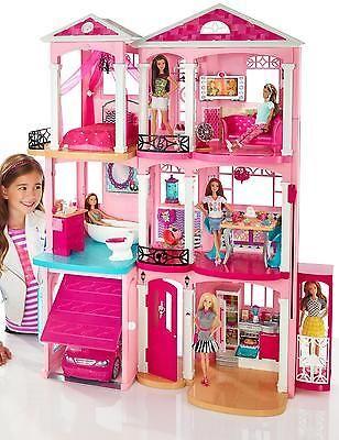 Mattel Barbie 2006 3 Story Dream Doll House Playset Vguc Sounds W Furniture Barbie House Barbie Room Barbie Dream House