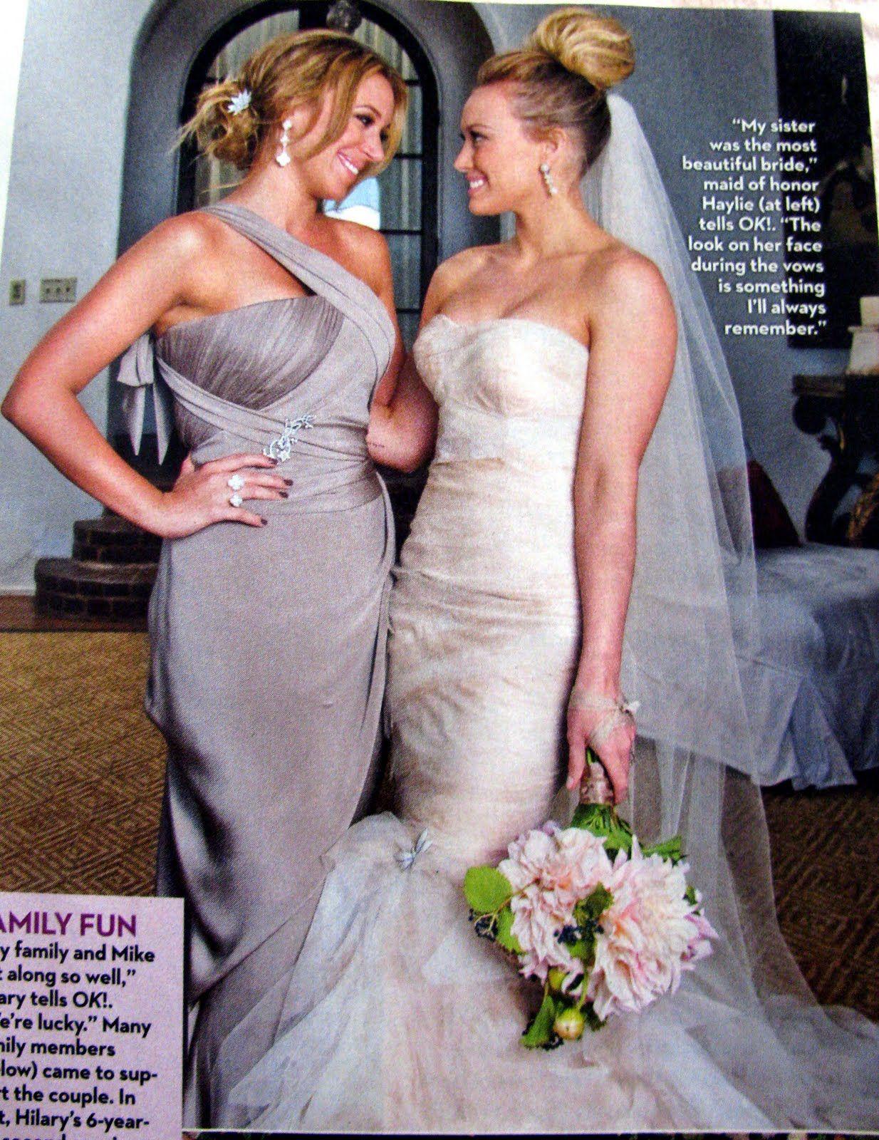 Hillary Duff S Hair Wedding Bridesmaid Dresses Bridesmaid Colors Designer Bridal Gowns