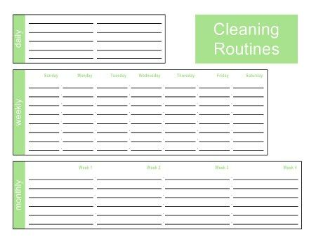 Printable Home Organization Sheets for everything you can think of