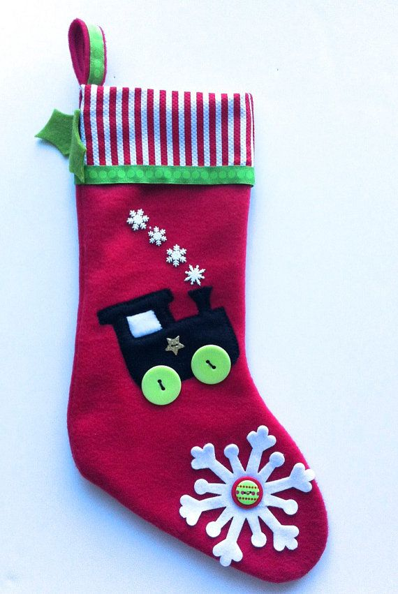 Baby - Toddler Boy Christmas Stocking - Choo Choo Train! | Cmas ...
