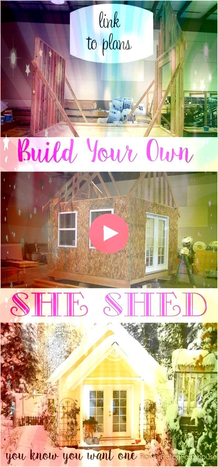 we built my Garden cottage studio aka She Shed A fun DIY build we did together A link to shed plans to build your own is includedHow we built my Garden cottage studio aka...
