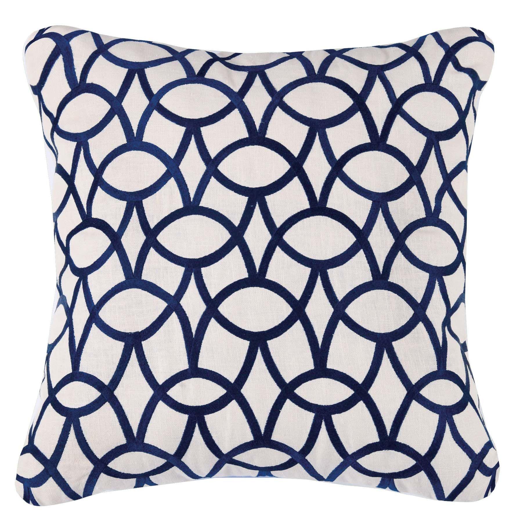 Abbey Indigo Pillow 20x20 Linen Throw Pillow Throw Pillows Pillows