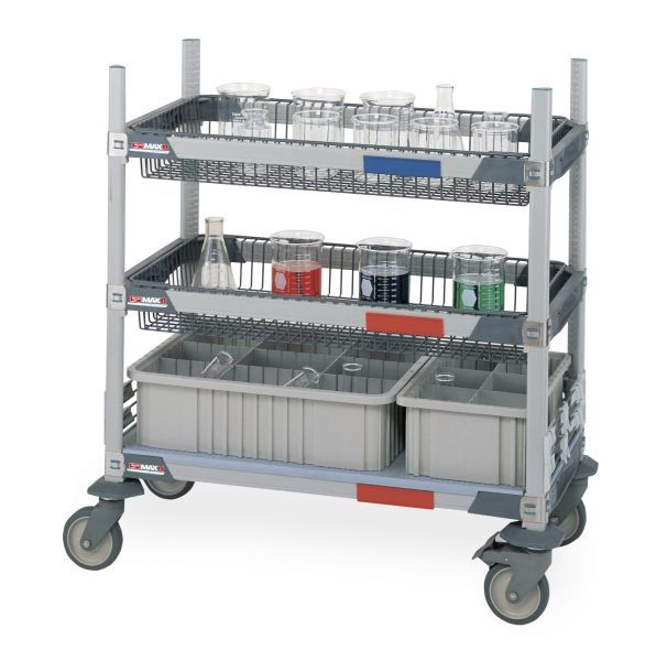 MetroMax i Two-Basket Glassware Lab Cart