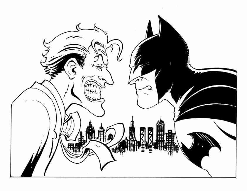 Batman Joker Colouring Pages Page 3