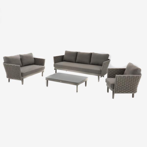 Cool Feruci Palma 5 Piece Marine Rope Sofa Set W Ottoman Beatyapartments Chair Design Images Beatyapartmentscom