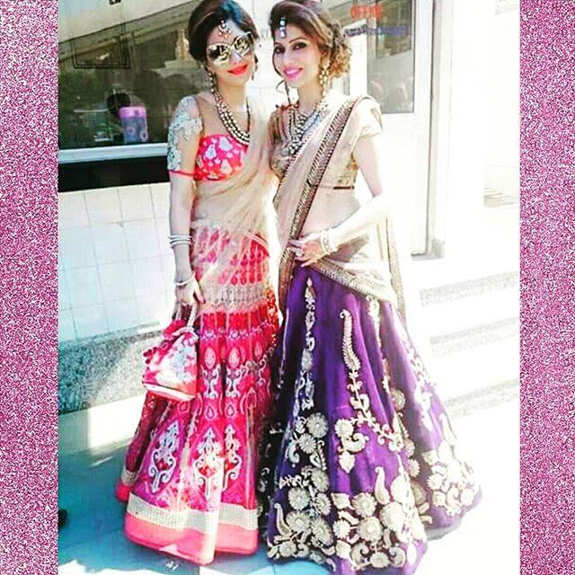 Purple and hot pink will never get old!  #lehngacholi #wedding #indian #love #instalove #fashion #desicouture #desiglam #glam