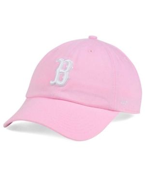 d5591ed0e11  47 Brand Women s Boston Red Sox Pink White Clean Up Cap - Pink Adjustable.