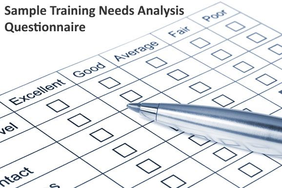 Example Training Needs Analysis Questionnaire Leadership - sample training evaluation form
