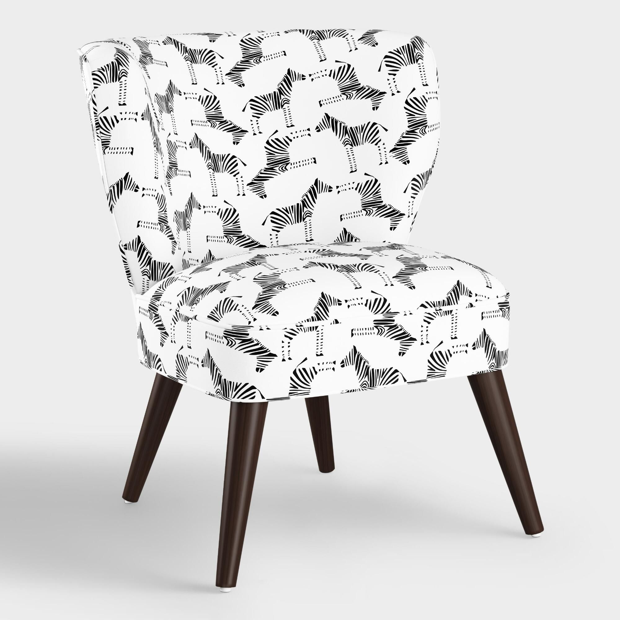 Block Print Zebra Carlye Upholstered Chair By World Market Upholstered Chairs Affordable Chair Zebra Chair #zebra #chairs #for #living #room