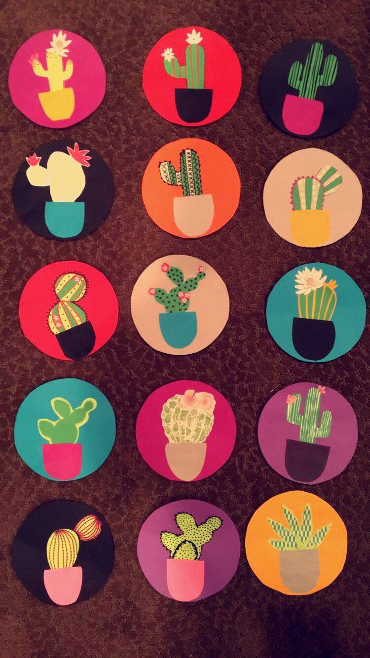 My RA door decs! Cactus plants made from cut paper. & My RA door decs! Cactus plants made from cut paper. | RA ... Pezcame.Com