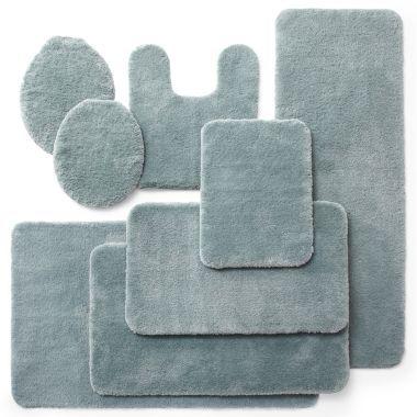 Royal Velvet Plush Bath Rug Collection Bath Rugs Bath And - Royal blue bath mat for bathroom decorating ideas