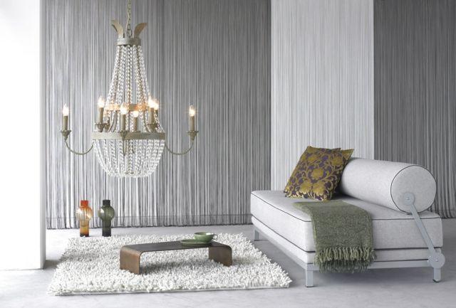 Stoffe Drapieren Wand Gestaltung Wohnzimmer Wohnzimmer In