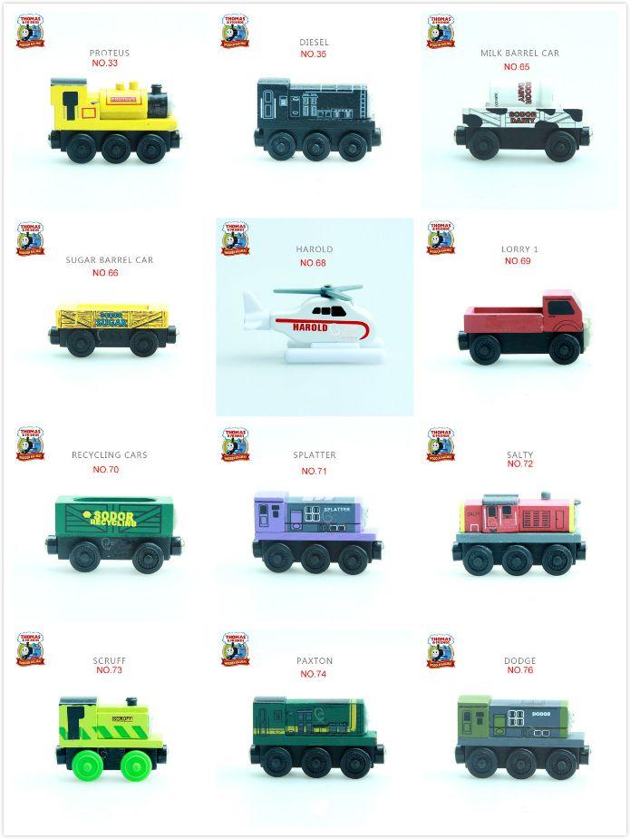 토마스와 친구들-NO.58-93 나무 자석 기차 모델 크리스마스 장난감 선물 빌 빅터 해롤드 트럭 짠
