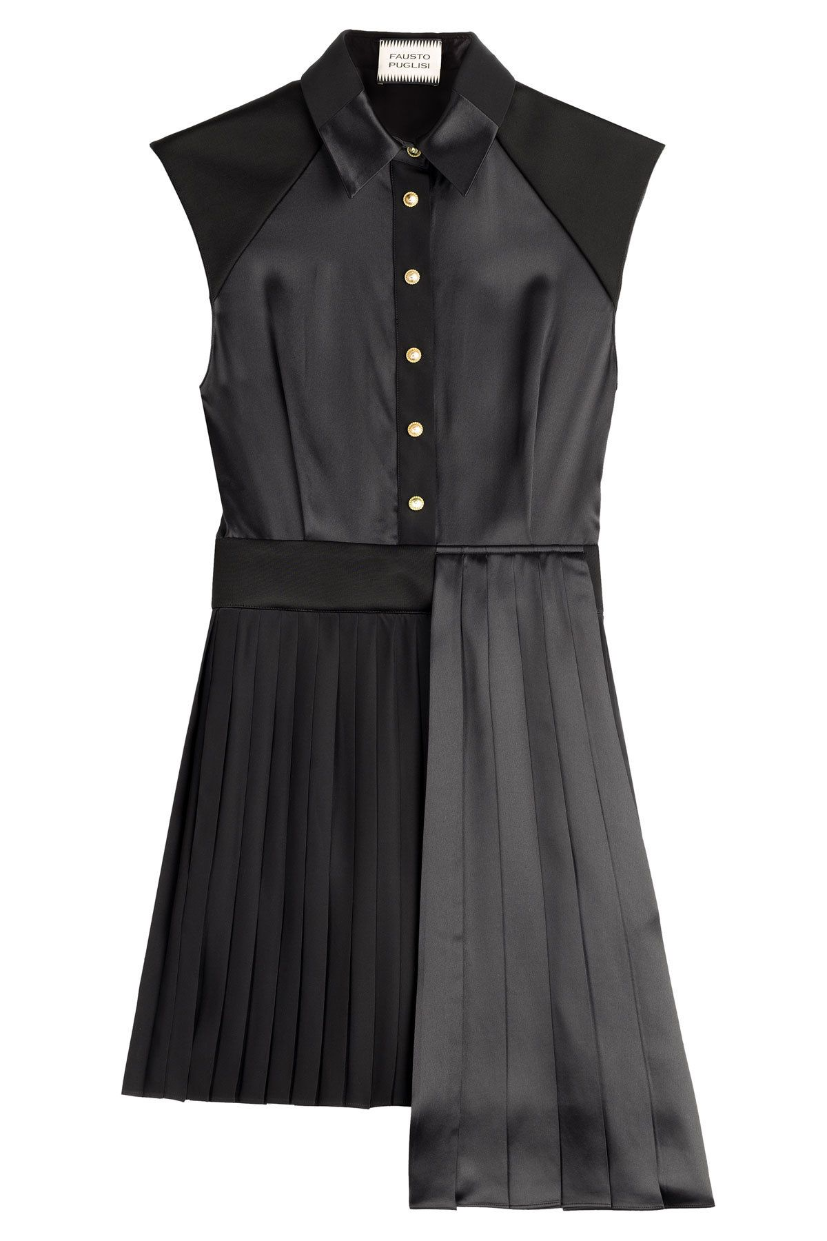 ab38e28153a Fausto Puglisi - Asymmetric Dress with Pleated Skirt