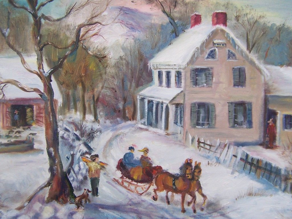 Old-Fashioned Christmas Scenes | Old Fashioned Winter Wallpaper ...