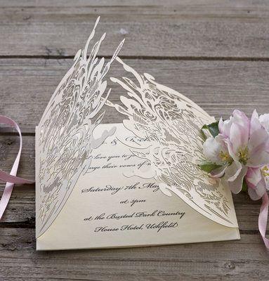 Rose Lace laser cut wedding invitation wraps   Laser cut wedding ...