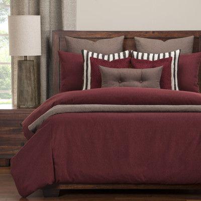 PoloGear Camelhair Duvet Set Size: Cal King, Color: Crimson