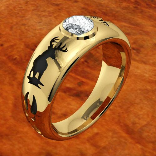 Mens Western Style Wedding Band