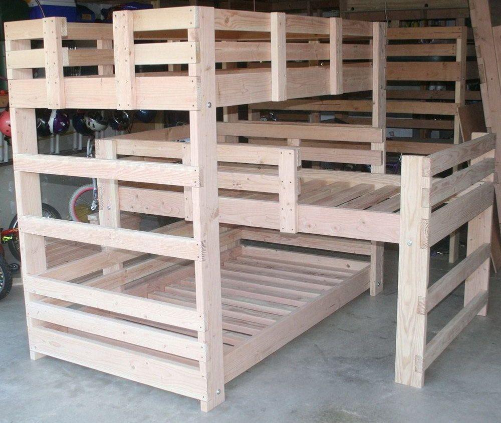 Triple Bunk Bed Plans Beds Pinterest Triple Bunk Beds Bunk