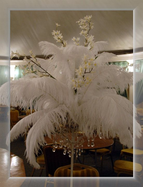 Ideas for non floral centerpieces wedding feather