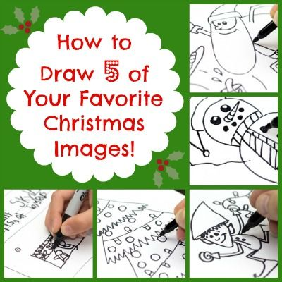 How to Draw Santa, Santa's Elves, a Christmas Tree, and a Snowman | Babble