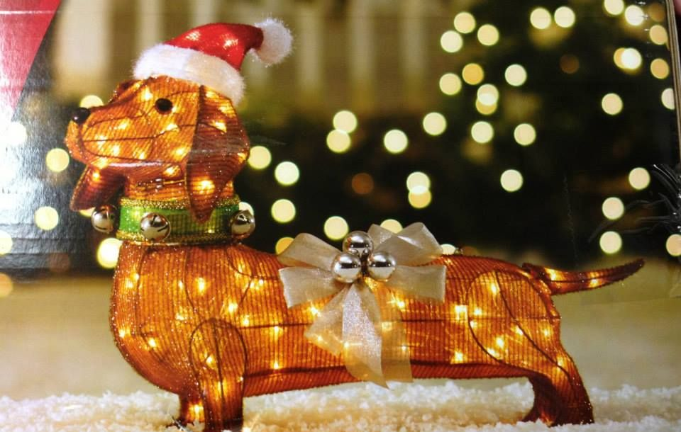 Item 7 Awesome Lighted Christmas Decoration Weiner Dog