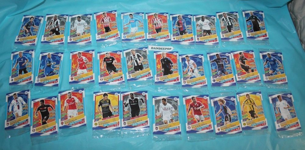Details About Topps Match Attax Soccer Uefa Champions League Trading Card 30 Packs 330 Cards Match Attax Uefa Champions League Trading Cards
