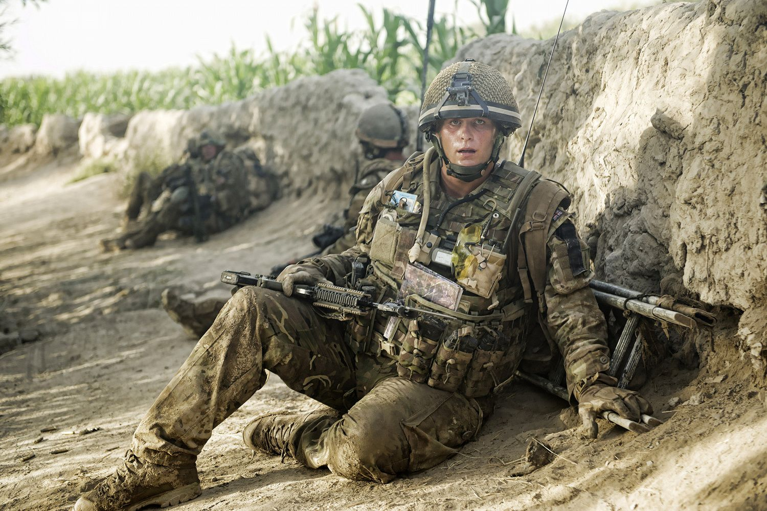 A Soldier From A Company 1 Rifles Based In Patrol Base 4 Takes