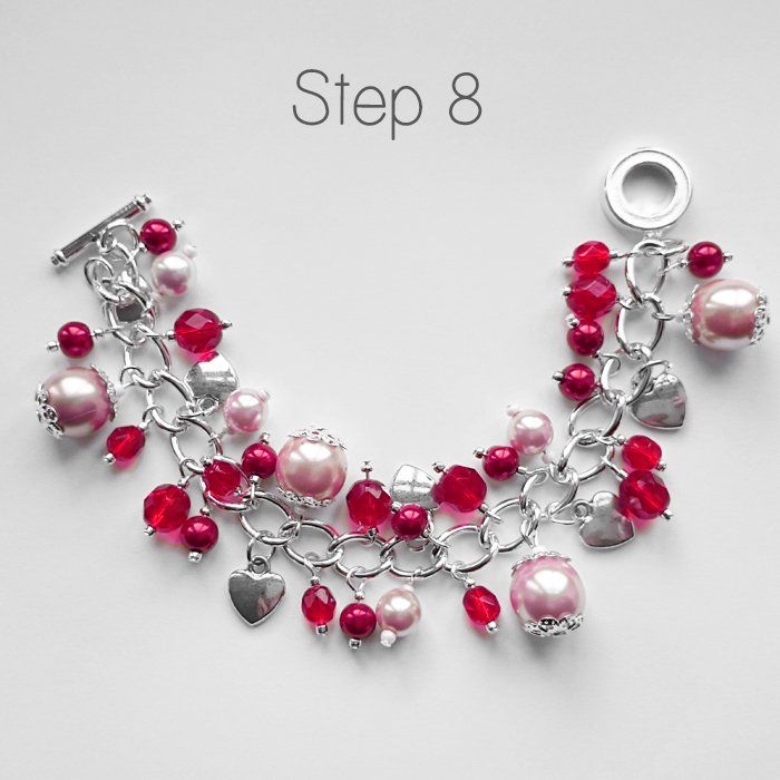 Diy Beaded Charm Bracelet Project For Valentine S Day Bracelets
