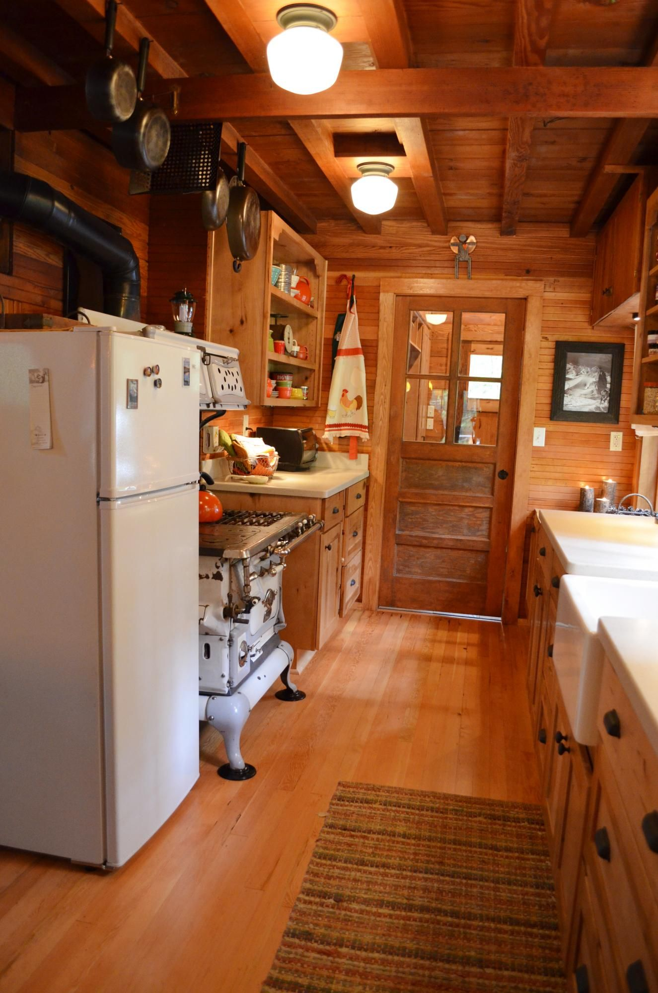 rustic cabin galley kitchen cultivate com rustic cabin kitchens cabin kitchens rustic on how to remodel your kitchen id=61701