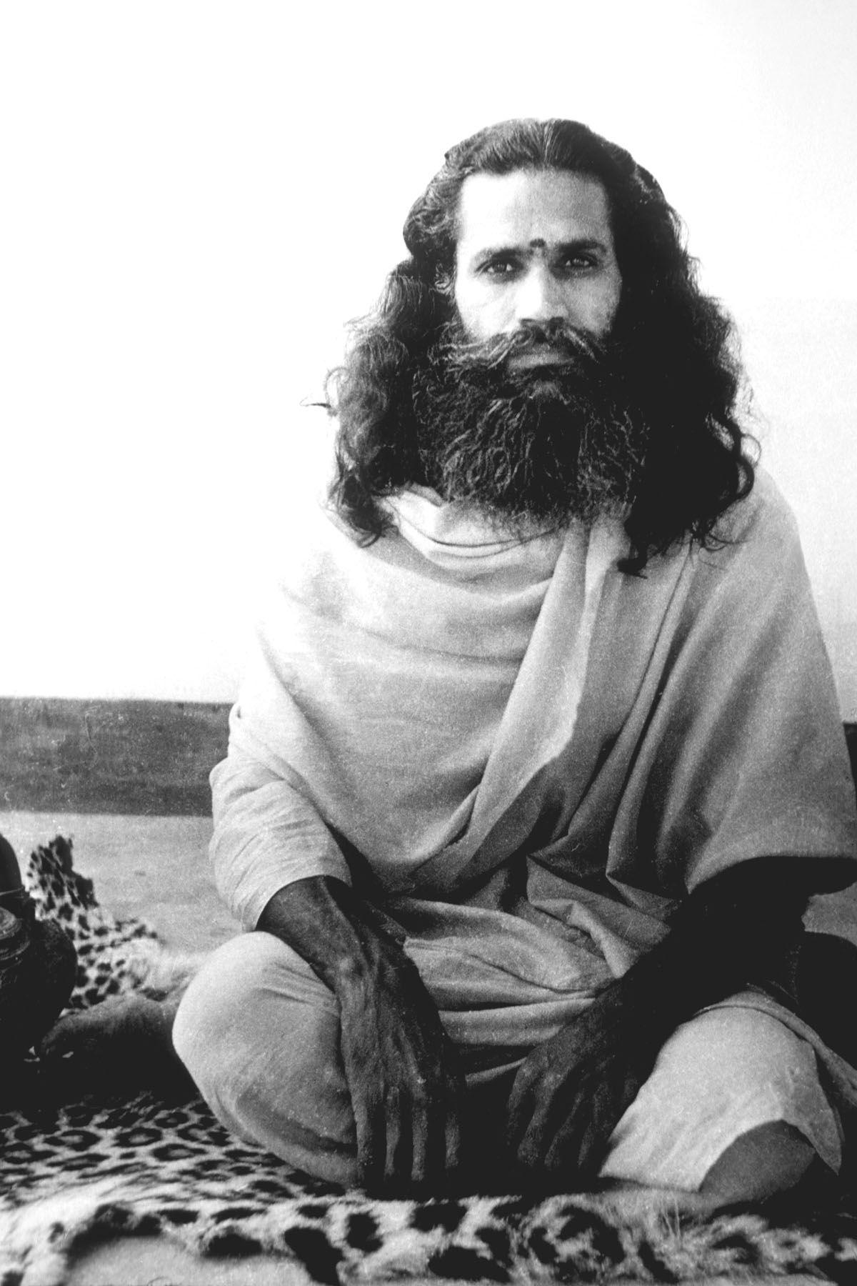 Swami Satchidananda as a young sannyasi (monk) in India