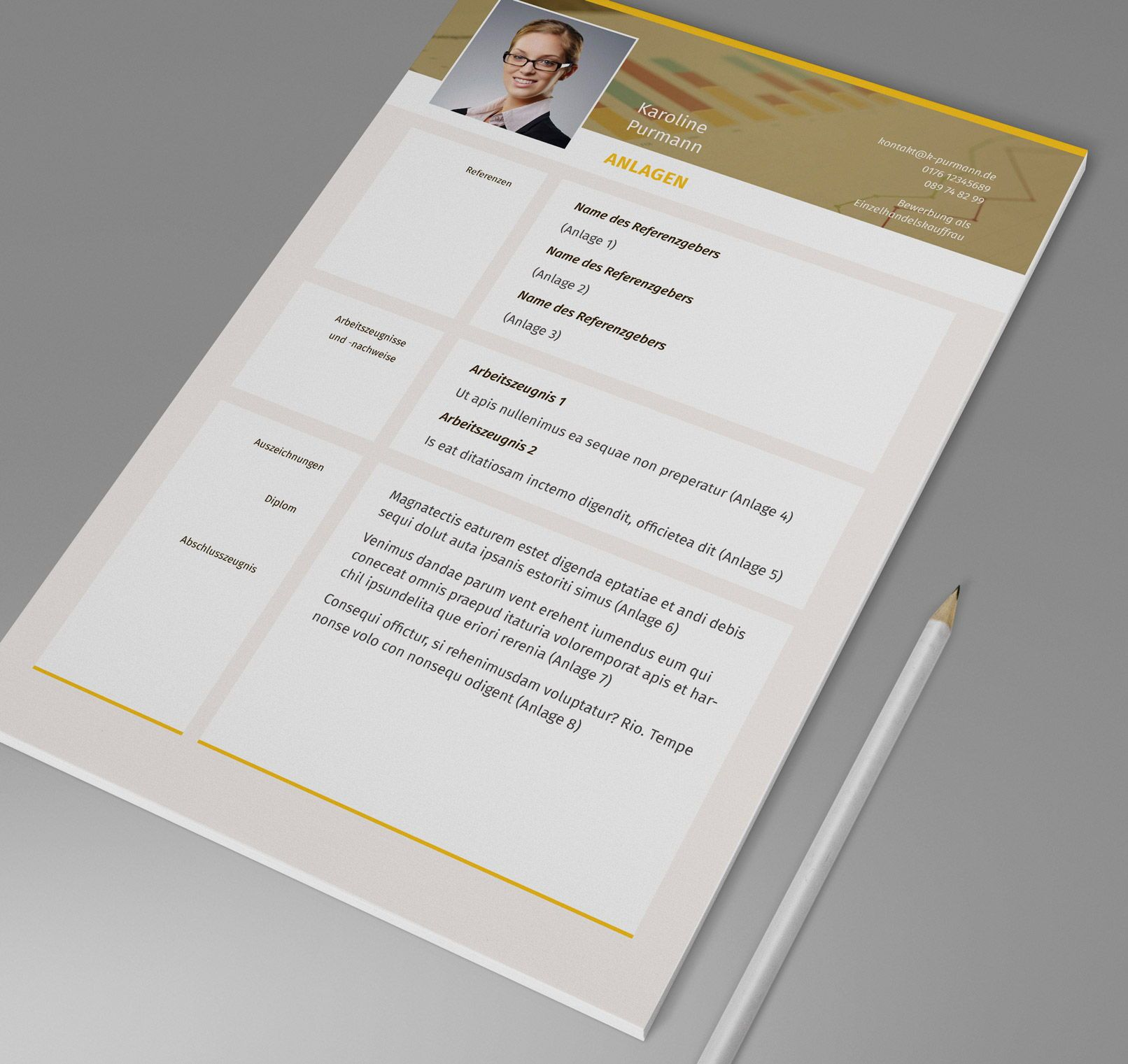 Design Muster Bewerbung Im Einzelhandel Kauffrau Kaufmann Deckblatt Gestalten Bewerbung Kauffrau