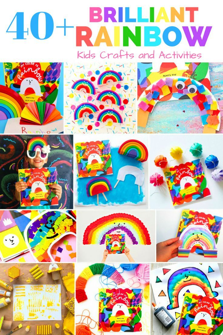 40 Brilliant Rainbow Kids Crafts And Activities Art With Children