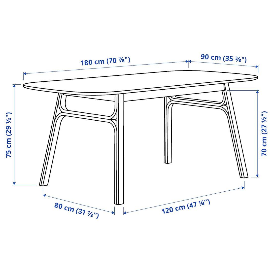 Voxlov Dining Table Light Bamboo 707 8x353 8 Ikea Dining Table Light Dining Table Ikea [ 1100 x 1100 Pixel ]