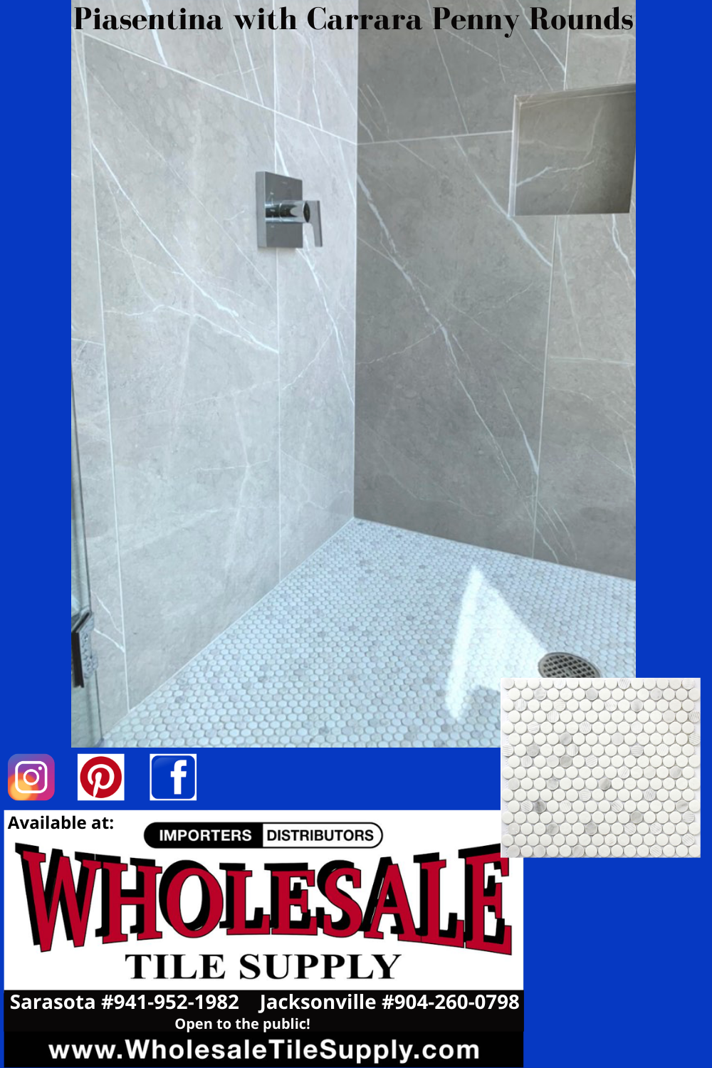 bathroom tile penny rounds