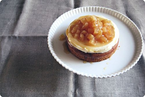 Walnut Cake With Apple Fig Compote Walnut Cake Fig Compote Food