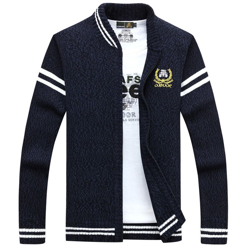 Click to Buy    Afs jeep Mens Cardigan Sweater Brand Clothing Men Zipper b6f74e855
