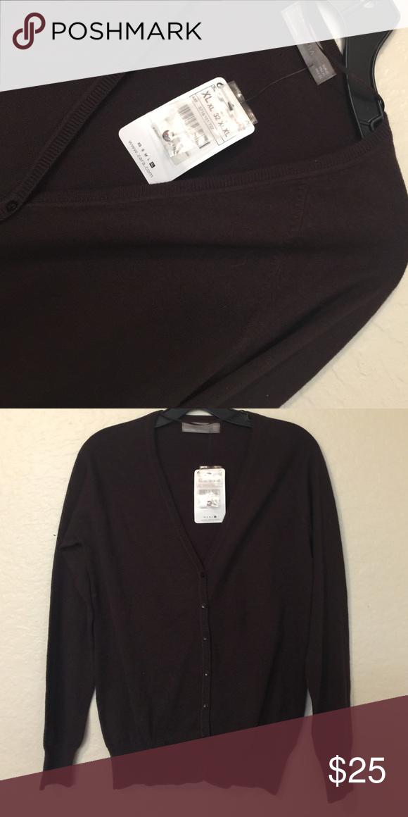 CARDIGAN 🍫 Brown V-Neck Sweater Boutique | Dark brown, Chocolate ...