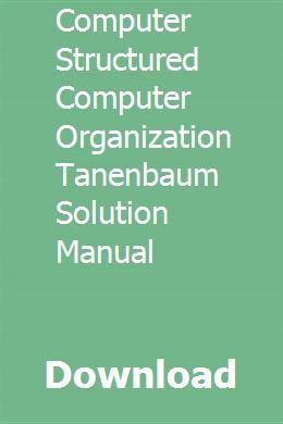 download computer structured computer organization tanenbaum rh pinterest com  Structured Computer Organization Tanenbaum