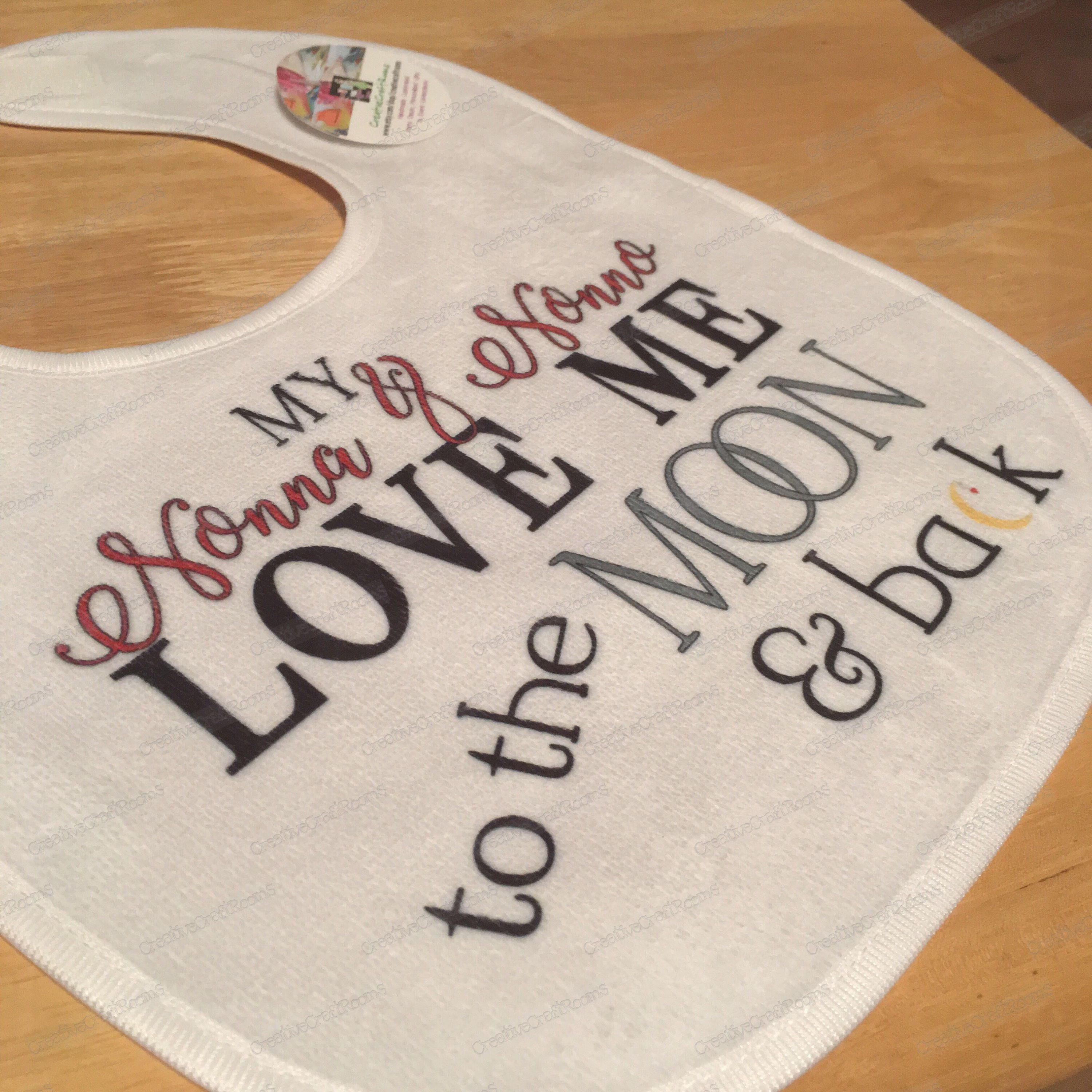 Baby Bandana Bib I love my Daddy to the Moon and Back cute